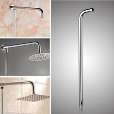 50x10cm Stainless Steel Silver Shower Head Bracket Wall Mounted Tube Bathroom Accessiories