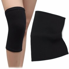 Black Sports Leg Knee Compression Support Brace Pad Sleeve Fastener