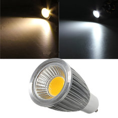 GU10 7W 85-265V White/Warm White Energy Saving LED COB Spot Light Lamp Bulb