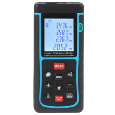 Anford RZ100 100m 328ft Laser Distance Meter Bubble Level Rangefinder Tape Measure
