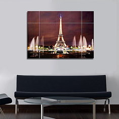 37Inches Removable Paris Eiffel Tower Wall Sticker Living Room Decal Home Decoration