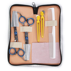 Professional Barber Hair Scissors Cutting & Thinning Shears Comb Hairdressing Set Kit