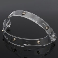 1PC 23X4.5CM Flip up Clear Lens Shield Visor For Motorcycle Open Face Helmet 3 Buckles
