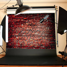 7x5FT Vinyl Red Brick Wall Photography Background Backdrop For Studio Props
