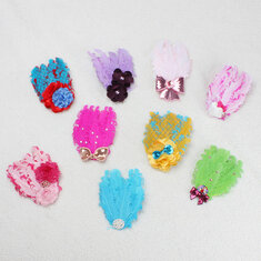 Baby Bow Peacock Feather Flower Headbands Wear Accessory