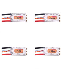 4X Racerstar Tattoo+ 52A BLheli_32 72MHz GD32F150 ESC Dshot1200 Ready Current Sensor LED Telemetry