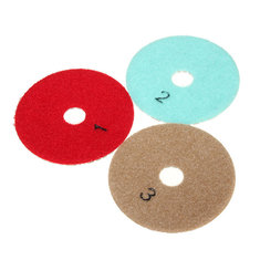 3Pcs Diamond Wet Polishing Pads 4 Inch 3 Step for Quartz Granite Concrete Stone Marble