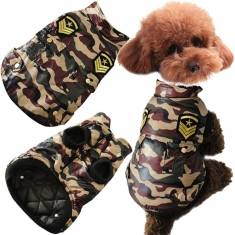 Winter Dog Jacket Pet Cat Camouflage Jacket  Dog Coat Warm Cotton Dog Clothes Battle Fatigues
