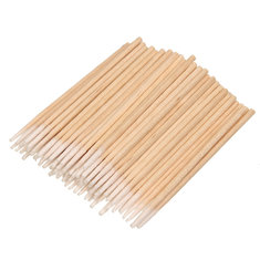 Tattoo Pointed Wood Swab Cotton Sticks Permanent Makeup Eyebrow Cosmetic Health Medical Clean Tool