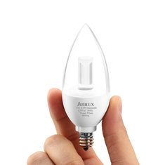 ARILUX® AL-B04 E12 4.5W Pure White/Warm White Dimmable LED Chandelier Candle Light Bulb AC 120V