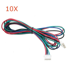 10X 1M 4pin Stepper Motor Cable XH2.54 Male Compatible With MKS Series For 3D Printer