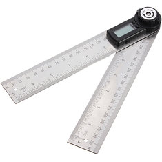 2 in 1 200MM 360Degree Lcd Digital Angle Finder Ruler Protractor