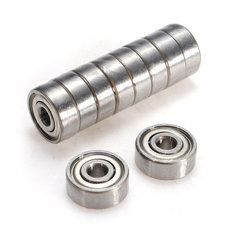 10pcs4x13x5mm Miniature Metal Sealed Metric Radial Ball Bearing 624-ZZ
