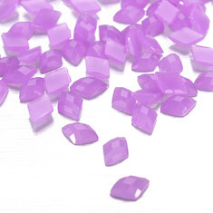 100pcs Rhombus Jelly Rhinestone Nail Art Cell Phone Decoration