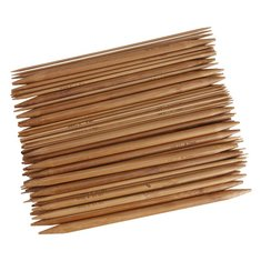 15 Sizes Bamboo Handle Carbonized Knitting Needle