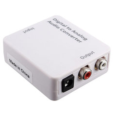 Optical Digital Coaxial Toslink Signal To Analog Audio Converter