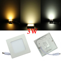 3W Square Dimmable Ultrathin Ceiling Energy-Saving LED Panel Light