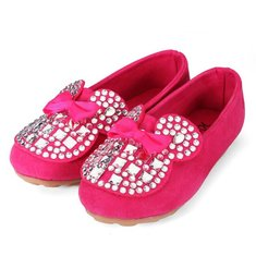 Girl Shoes Bow Sneakers Sparkle Rhinestone Slip On Deck Shoes Kids Youth Girls Toddlers
