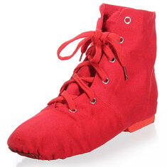 Soft Sole Multicolor Canvas Lace-up Jazz Ballet Dance Shoes