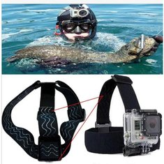 Non-Slip Elastic Head Strap Headband Mount For Gopro Hero 1/2/3/3 Plus Xiaomi Yi SJ4000