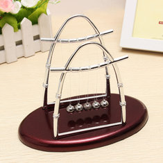 Arc-shaped Newton's Cradle Balance Ball Science Puzzle Fun Desk Toy