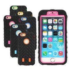 3in1 Hybrid Shockproof Rugged Combo Tyre Armor Case For iPhone 6