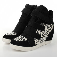 Women Wedge Sneakers Height Increasing Shoes Platform Casual Boot