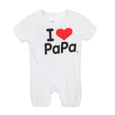Baby Infant Love Mom Daddy Romper Cotton Short Sleeve Jumpsuit