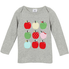 2015 New Little Maven Summer Baby Girl Children Apples Grey Cotton Long Sleeve T-shirt