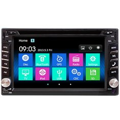 62 inch double 2din car stereo dvd player bluetooth gps navigation hd usb tv camera