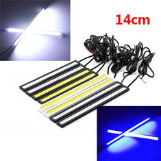 2 x 6W 14CM COB Daytime Running Light Waterproof With Silver and Black Shell