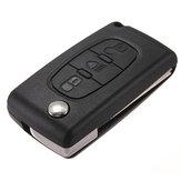 3 Button Flip Remote Key Fob Case Shell For Citroen C2 C3 C4 C5 C6