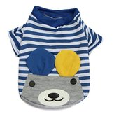 Summer Pet Puppy Dog T Shirt Striped Cotton T-shirt Bear Apparel