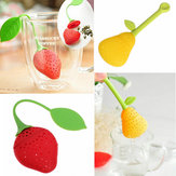 Pear Strawberry Shape Silicon Tea Infuser Strainer Filter