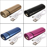 Original 2600mAh Elliptic Portable External Battery Charger Power Bank V8 Cable