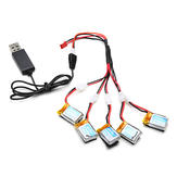 1 To 5 3.7V 220MAH 15C Lipo Battery with Charger for JJRC H22 RC Quadcopter
