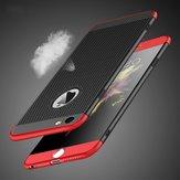 Bakeey™ 3 in 1 360° Full Protection Mesh Dissipating Heat Case with Tempered Glass for iPhone 6Plus 6sPlus