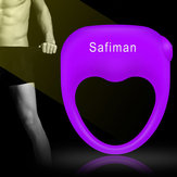 Male Double Resonance Silicone Vibrator Waterproof Powerful Penis Rings Adult Toy