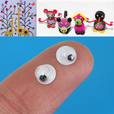 200Pcs 5mm Black Moving Wiggly Wobbly Googly Sticky Eyes DIY Bear Doll Scrapbooking Children Kid Toy