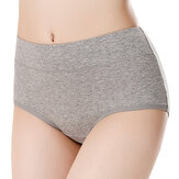Original Comfy Soft Cotton Solid Color Mid Waist Hip-lifting Breathable Briefs Antibiosis Panties