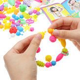Original 380PCS Pop Beads Toys Snap Together Necklace Y Pulsera Manualidades Kit de Joyería DIY Juguetes Educativos