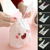 50pcs Cute Easter Bunny Cookies Bag Wedding Decoration Kawaii Rabbit Ear Plastic Candy Bag