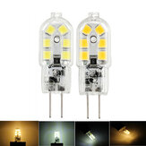 Dimmable G4 2W SMD2835 12LEDs Warm White Pure White Light Bulb DC12V