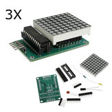 3Pcs MAX7219 Dot Matrix Module DIY Kit SCM Control Module For Arduino