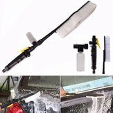 Long Handle Soft Bristle Car Water Wash Brush Clean Tool With Foam Spray Bottle
