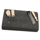 Original Needle Felting Foam Starter Kit Wool Felt Tools Mat + Needles + Craft Accessories Set