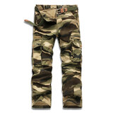 Original Mens Camouflage Outdoor Sports Pants Casual Military Cotton Multi-pocket Cargo Pants