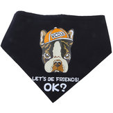 Original Yani KG-1 Dog Bandana Dog Scarf Black Let's Be Friend Puppy Pet Accessory