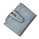 Women Casual PU Leather Portable Wallet Card Coin Holder Purse