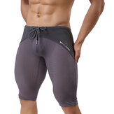 BRAVE PERSON Mesh Breathable Quick Drying Surf Swimming Trunks Men Gym Fitness Tight Sports Shorts